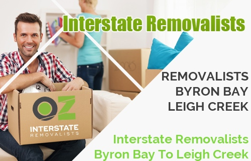 Interstate Removalists Byron Bay To Leigh Creek