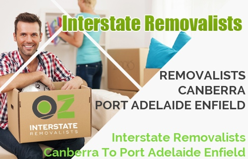 Interstate Removalists Canberra To Port Adelaide Enfield