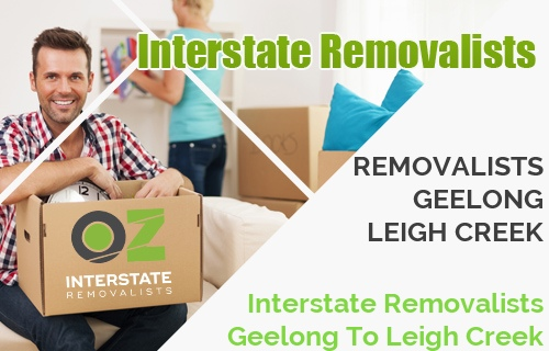 Interstate Removalists Geelong To Leigh Creek