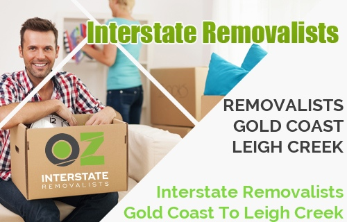 Interstate Removalists Gold Coast To Leigh Creek