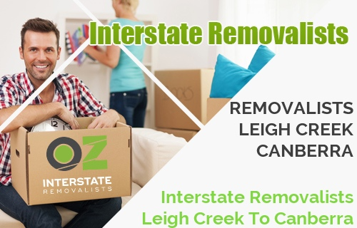 Interstate Removalists Leigh Creek To Canberra
