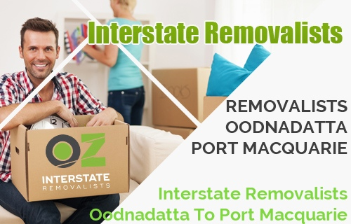 Interstate Removalists Oodnadatta To Port Macquarie