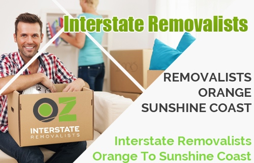 Interstate Removalists Orange To Sunshine Coast