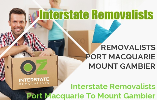 Interstate Removalists Port Macquarie To Mount Gambier