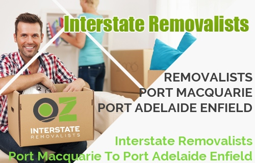 Interstate Removalists Port Macquarie To Port Adelaide Enfield