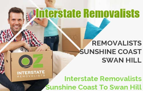 Interstate Removalists Sunshine Coast To Swan Hill