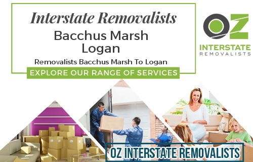 Interstate Removalists Bacchus Marsh To Logan
