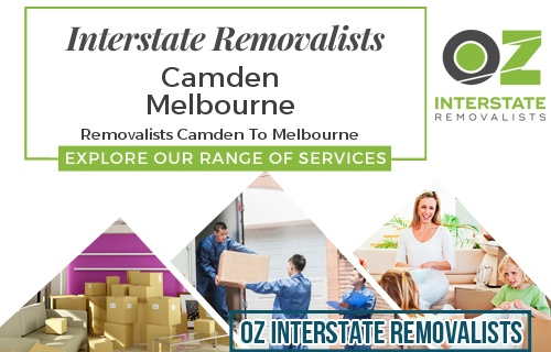 Interstate Removalists Camden To Melbourne