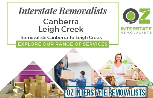 Interstate Removalists Canberra To Leigh Creek