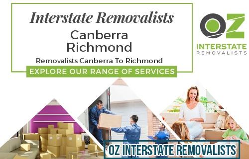Interstate Removalists Canberra To Richmond