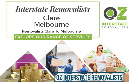 Interstate Removalists Clare To Melbourne