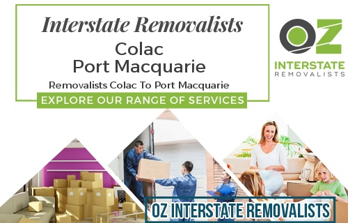 Interstate Removalists Colac To Port Macquarie