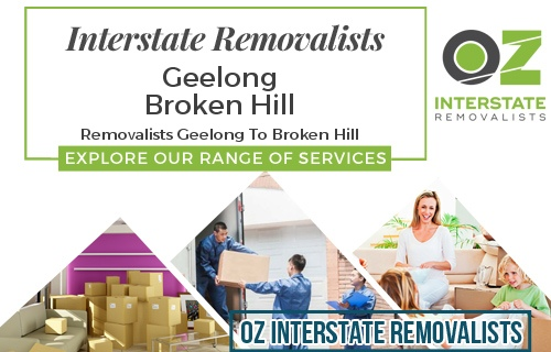 Interstate Removalists Geelong To Broken Hill