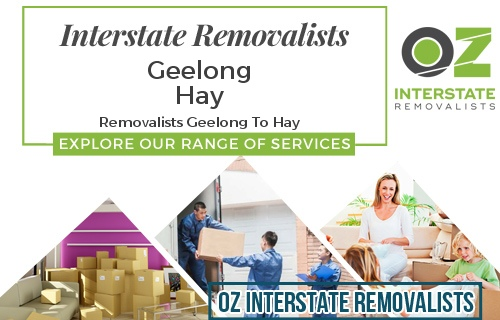 Interstate Removalists Geelong To Hay