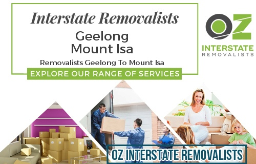 Interstate Removalists Geelong To Mount Isa