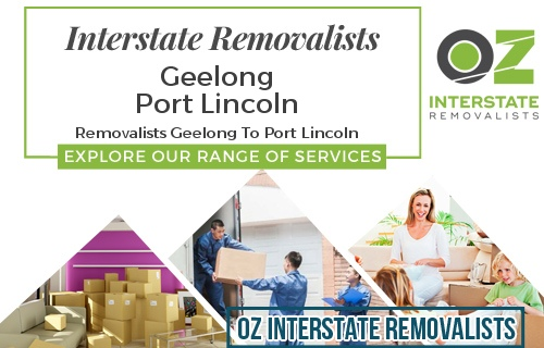 Interstate Removalists Geelong To Port Lincoln