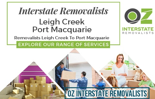Interstate Removalists Leigh Creek To Port Macquarie