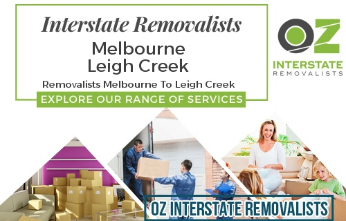 Interstate Removalists Melbourne To Leigh Creek