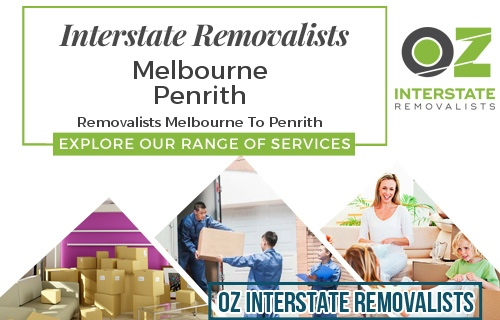 Interstate Removalists Melbourne To Penrith