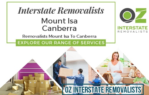 Interstate Removalists Mount Isa To Canberra
