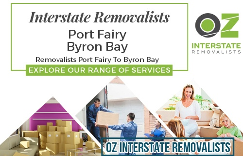 Interstate Removalists Port Fairy To Byron Bay