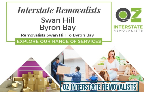 Interstate Removalists Swan Hill To Byron Bay