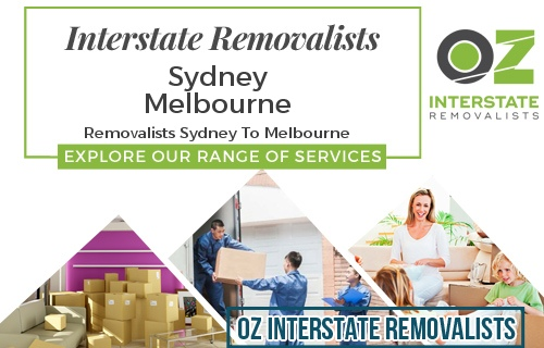 Interstate Removalists Sydney To Melbourne