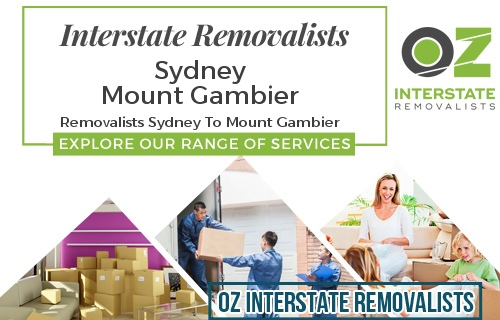 Interstate Removalists Sydney To Mount Gambier
