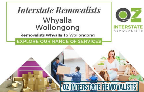 Interstate Removalists Whyalla To Wollongong