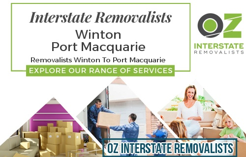 Interstate Removalists Winton To Port Macquarie
