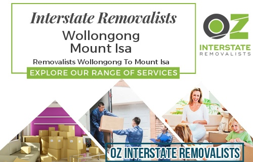 Interstate Removalists Wollongong To Mount Isa