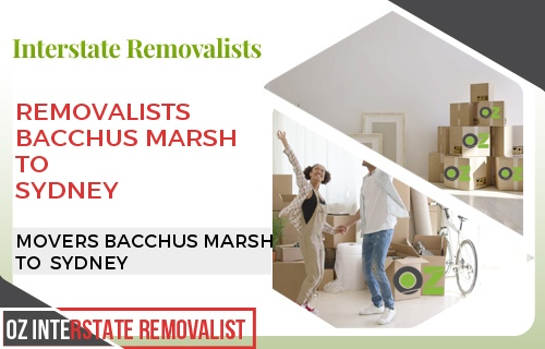 Removalists Bacchus Marsh To Sydney
