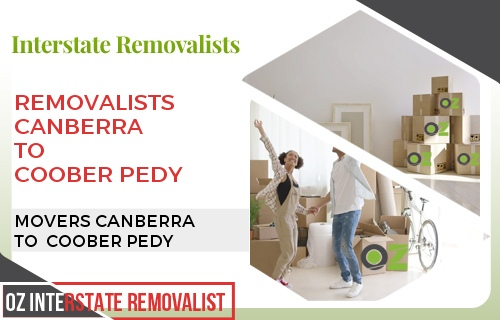 Removalists Canberra To Coober Pedy