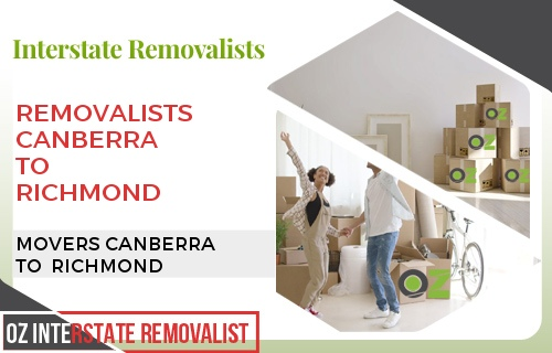 Removalists Canberra To Richmond