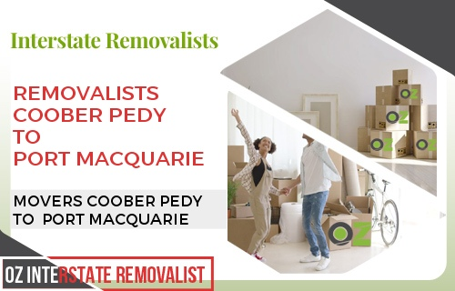 Removalists Coober Pedy To Port Macquarie