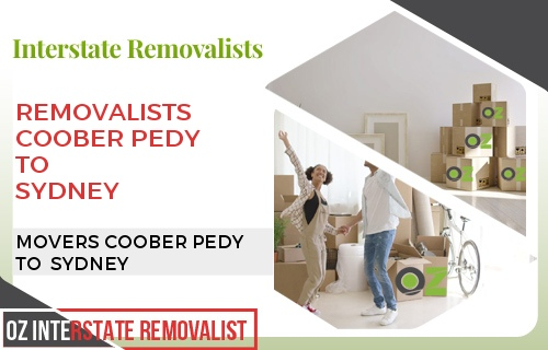 Removalists Coober Pedy To Sydney