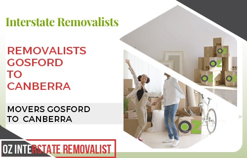 Removalists Gosford To Canberra