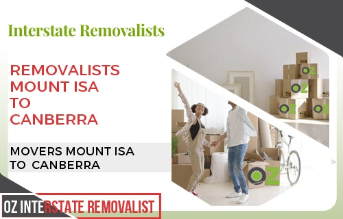 Removalists Mount Isa To Canberra