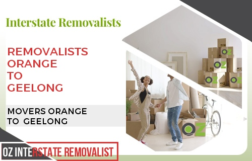Removalists Orange To Geelong