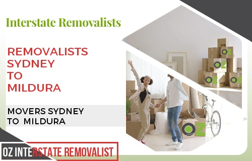 Removalists Sydney To Mildura