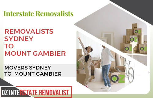 Removalists Sydney To Mount Gambier